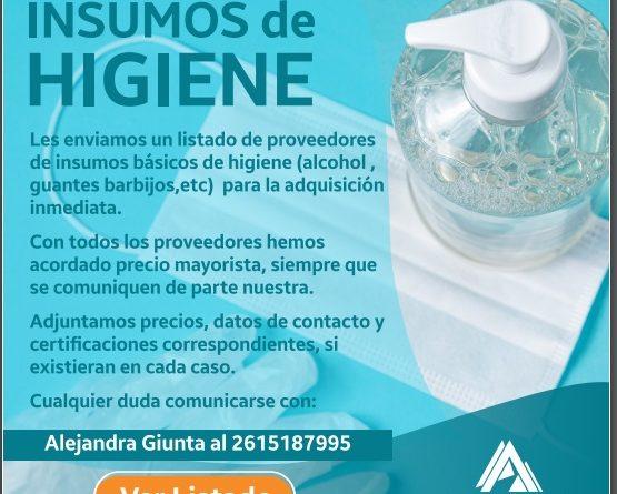 Insumos de higiene